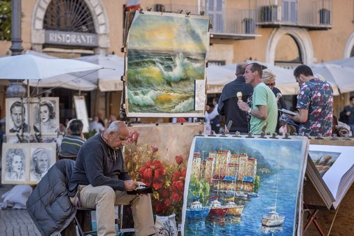 Painter at Piazza Navona, Rome