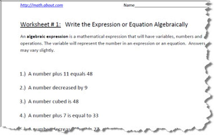 Simplifying Expressions Using Distributive Property – Algebraic Expressions Worksheet
