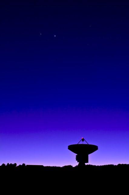 conjunción venus júpiter, telescopios, efemérides 2013
