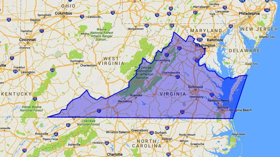 Where Is Virginia Map Location And Geography