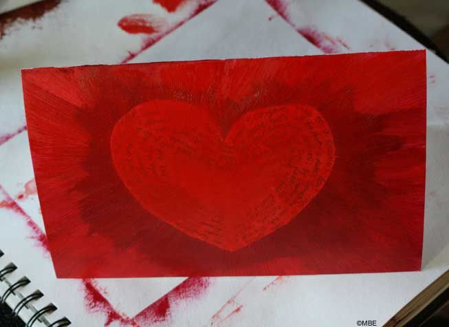How to Paint a Quick Valentines Day Card With a Secret Message – Valentines Card Image