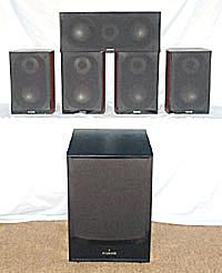 Fluance XL Series 5.1 Speaker System with DB150 Subwoofer - Photo - Front View - Grills On