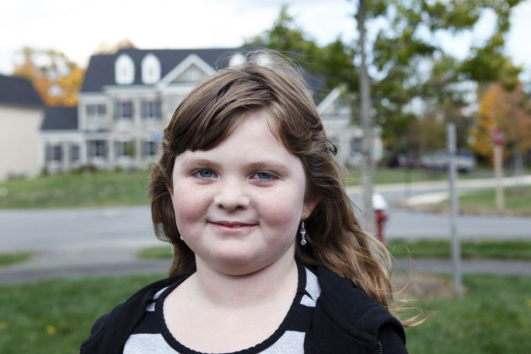 Portrait of suburban girl