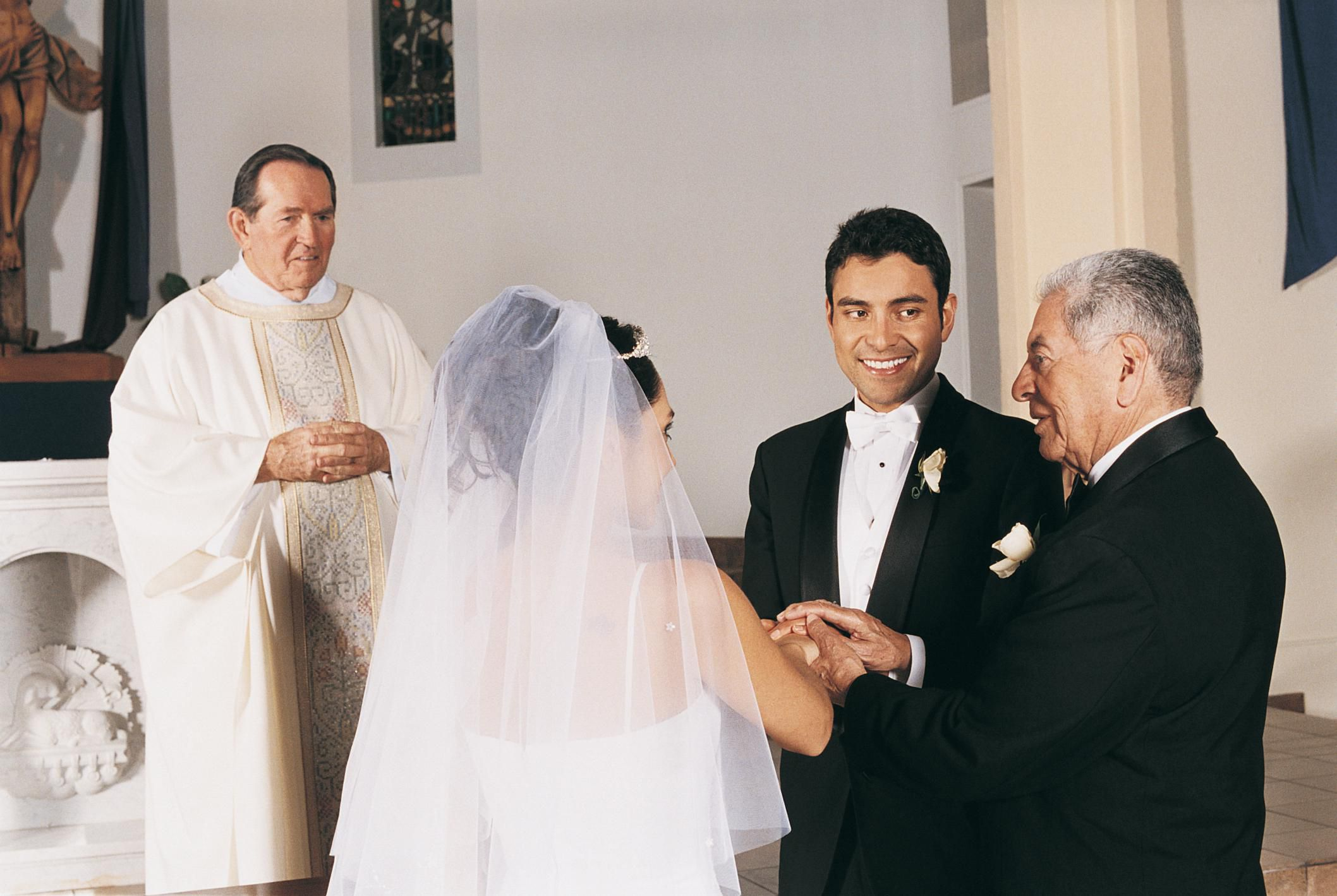 3 Scripts For Giving Away The Bride In A Christian Wedding