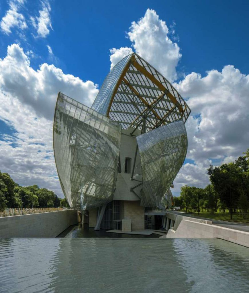 The Fondation Louis Vuitton in Paris, designed by Frank Gehry