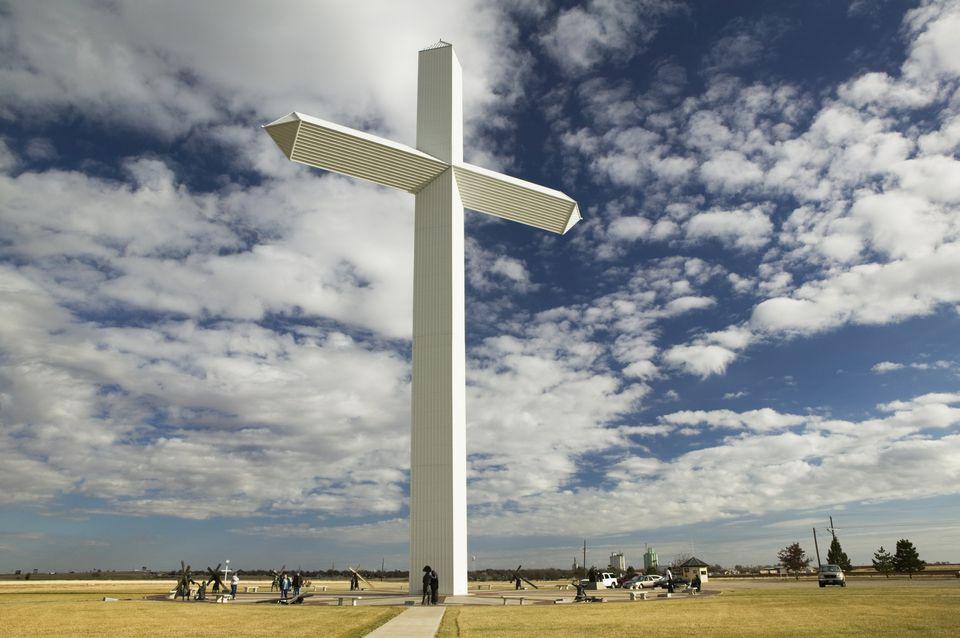 美国,得克萨斯州,Panhandle地区,我们的主十字架