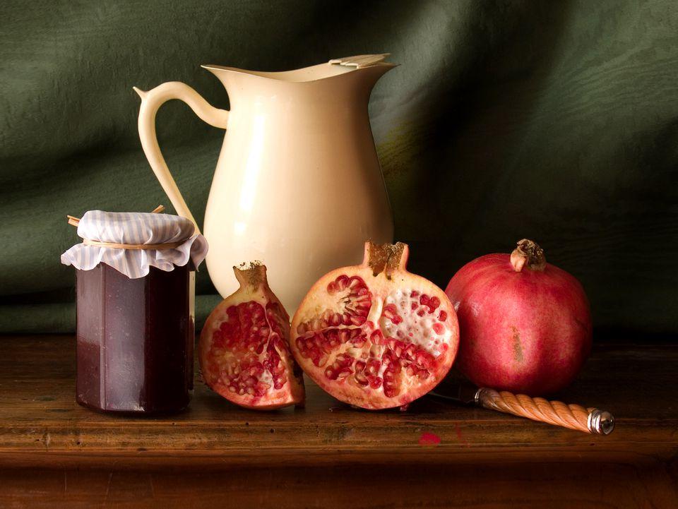 pomegranate jelly recipe, pomegranates, fruit, jam, receipts