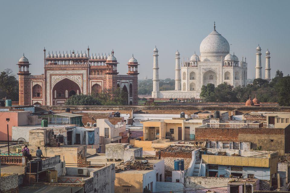 View of Taj Mahal from Taj Ganj area.
