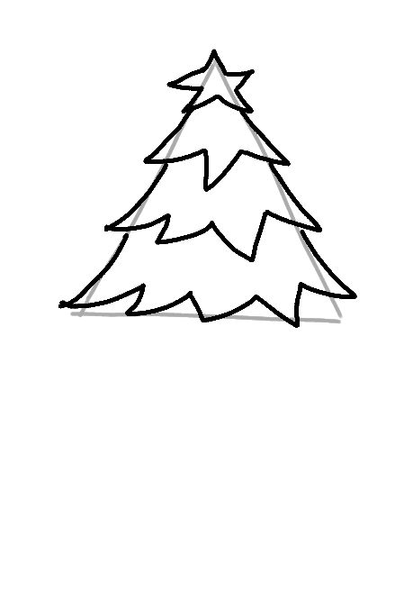 Drawing More Christmas Tree Branches