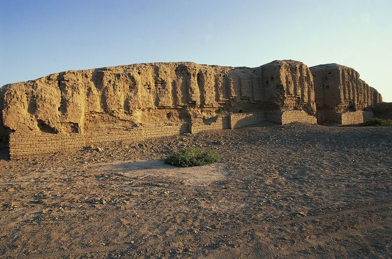 Archaeological site of the ancient city of Kish, south of Baghdad, Iraq, Sumerian civilization, 4th-1st millennium BC