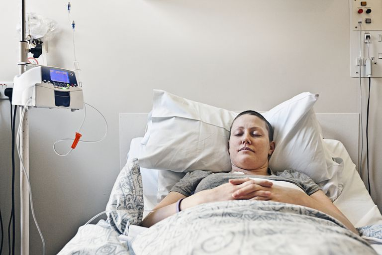 Breast Cancer Patient having Chemotherapy Treatment