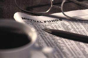Mutual funds in newspaper