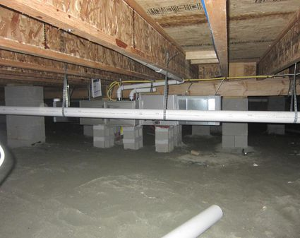 Moisture In Crawl Space Preventable With Sheet Plastic