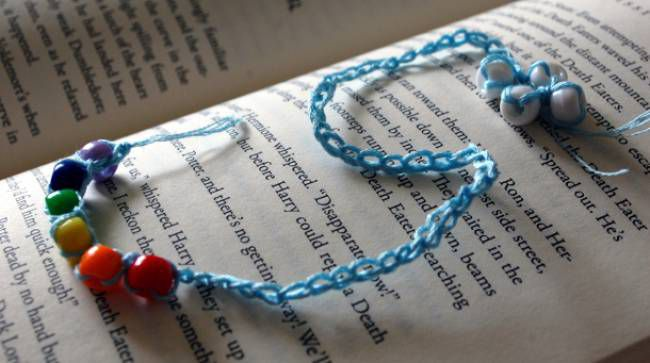Beaded Chain Crochet Bookmark Free Pattern