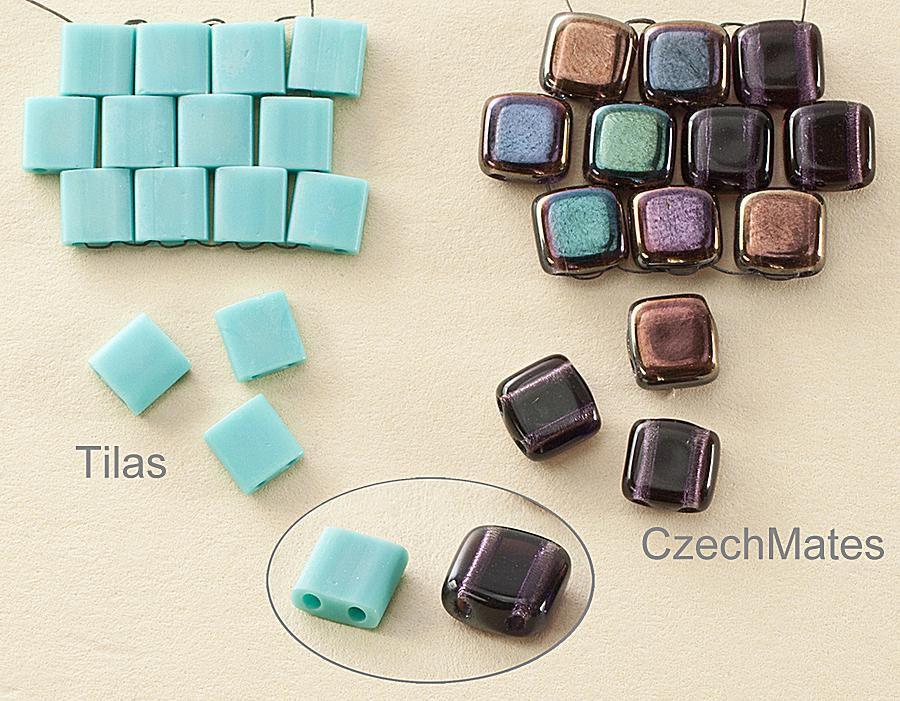 Miyuki Tila Two Hole Tile Beads