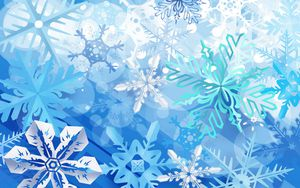17 beautiful and free winter wallpapers white and blue snowflakes voltagebd Image collections