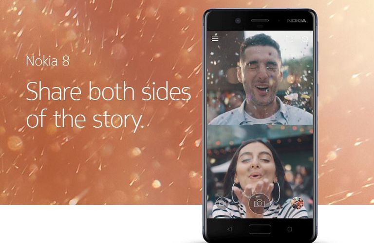Nokia 8 allows you to share both sides of the story