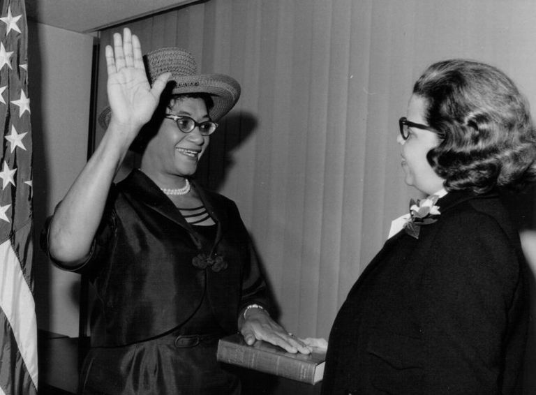 First woman member, U.S. Commission on Civil Rights, 1964