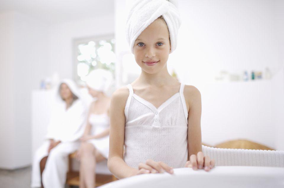 kids at the spa