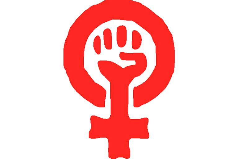 Fist in female symbol, women's liberation