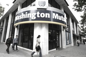 an exterior shot of Washington Mutual