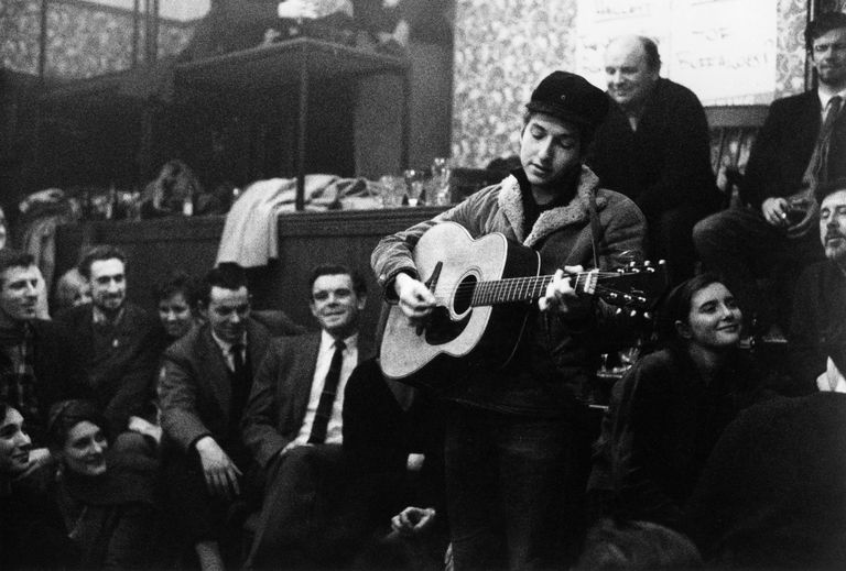 bob dylan guitar christmas party