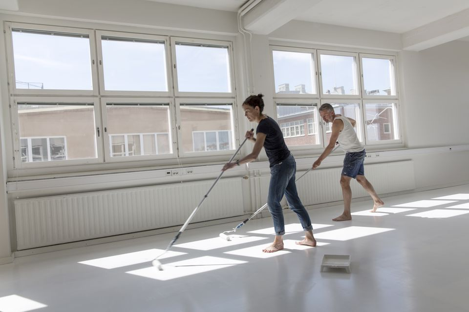Painting plywood floor