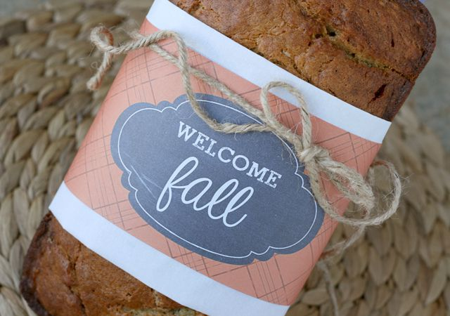 DIY Welcome Fall Bread Label