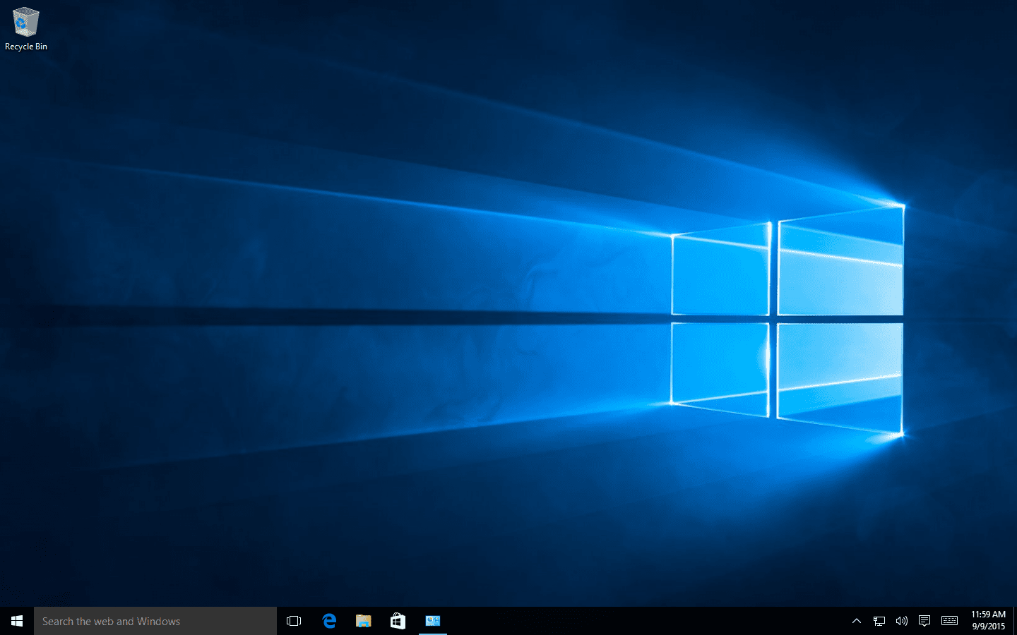 Screenshot of the Windows 10 desktop