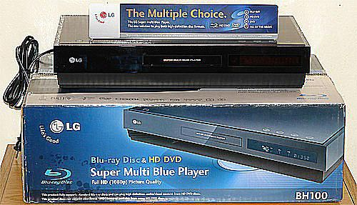 LG BH100 Blu-ray/HD-DVD Combo Player - Front View