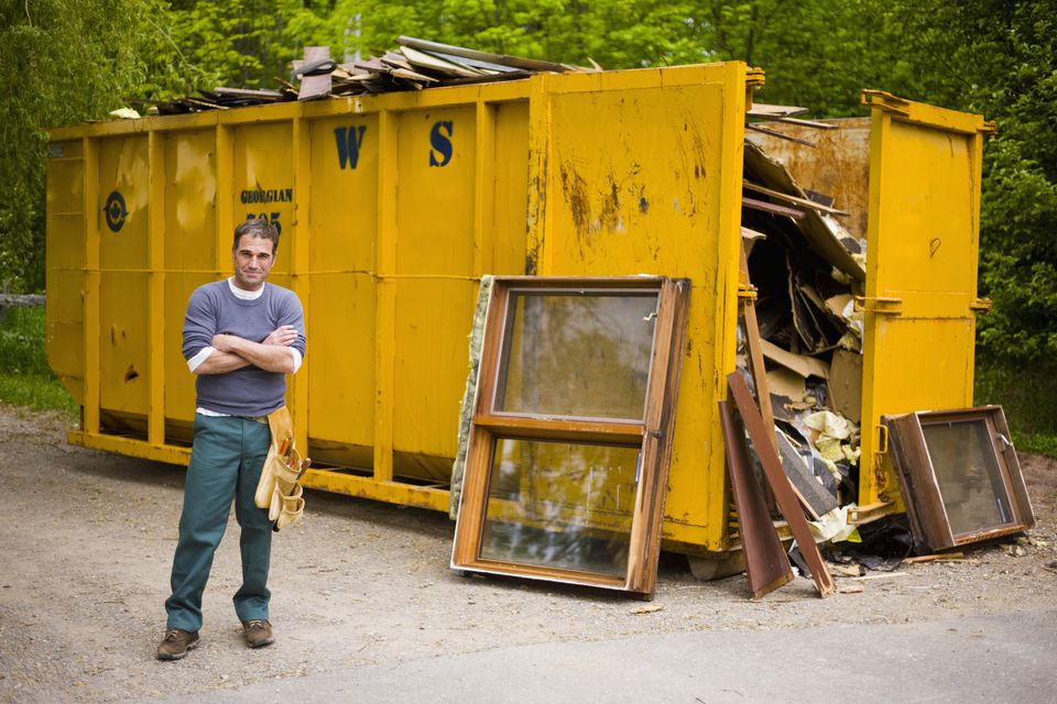 Homeowner Renting Out Dumpster for Home Remodeling