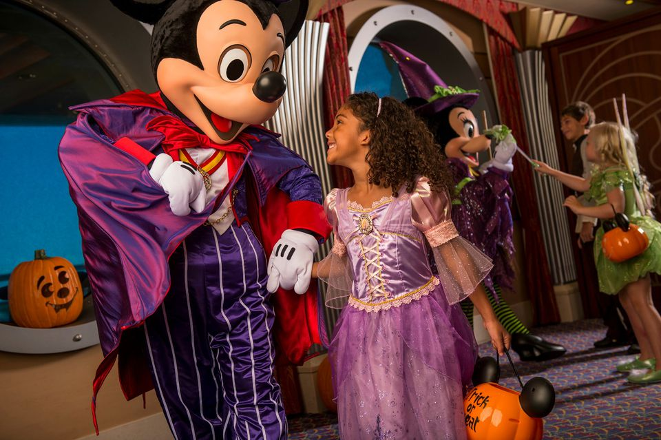 Mickey dressed up for Halloween on a Disney Cruise