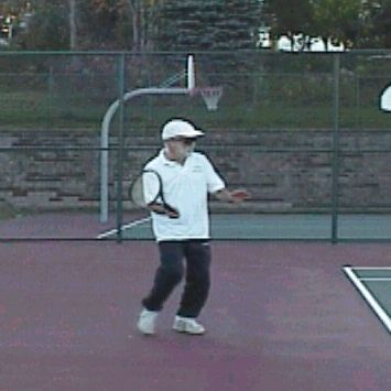 Forehand Topspin Lob: Starting Backswing