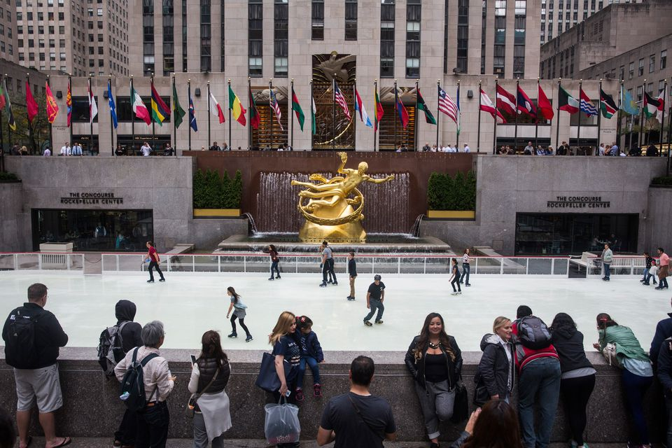 New York's Rockefeller Center Ice Rink Opens For Winter Season
