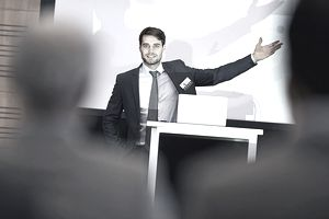 A speaker at an event.