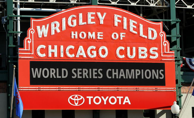Chicago Cubs Victory Celebration - Wrigley Field Marquee
