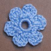 Easy Small Flat Crochet Flower Applique