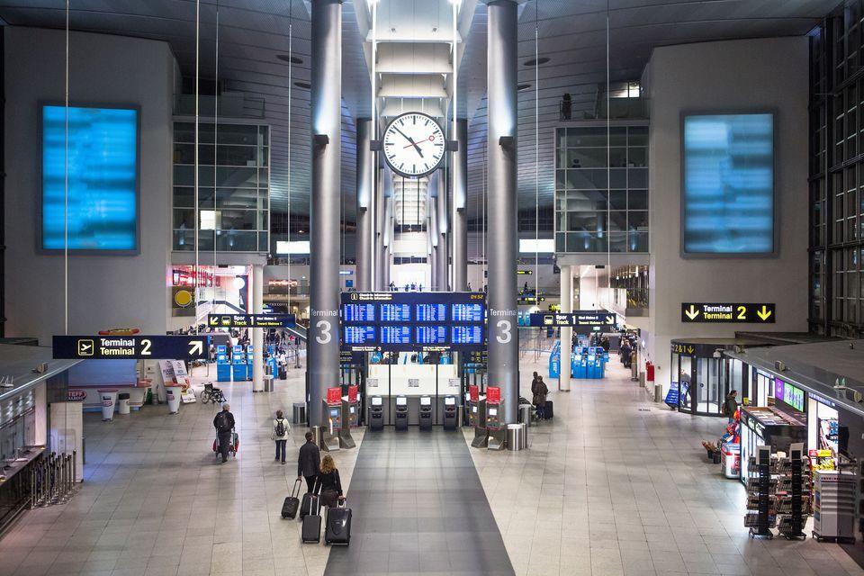 The Copenhagen international airport