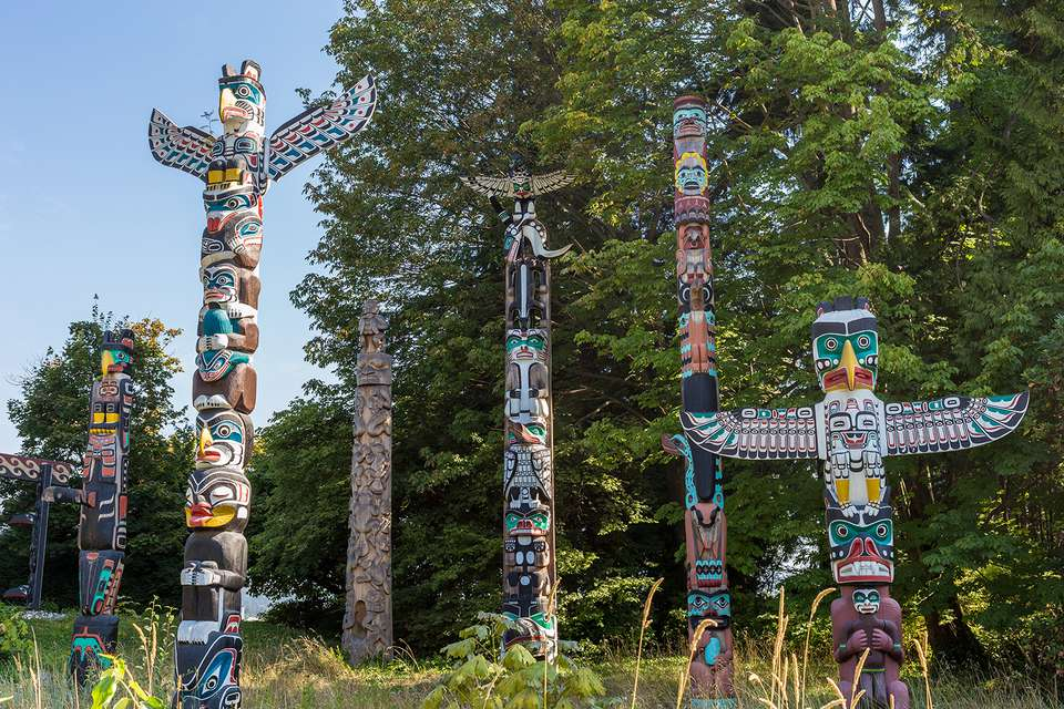 First Nations Totem poles, Stanley Park, Vancouver