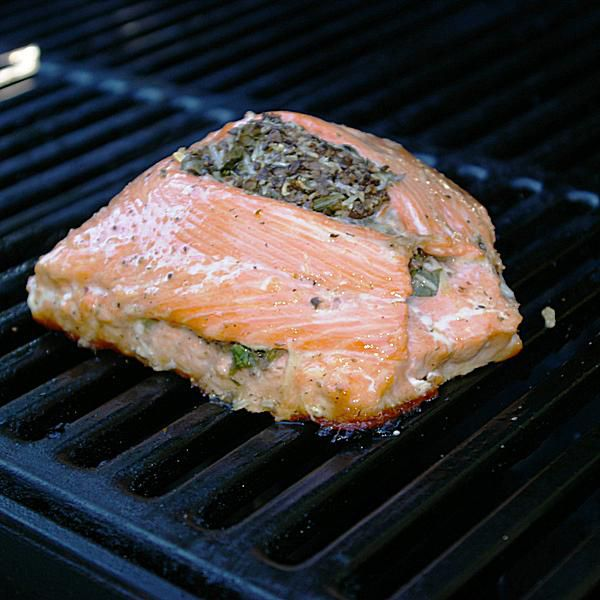 Grilled Stuffed Salmon Recipe