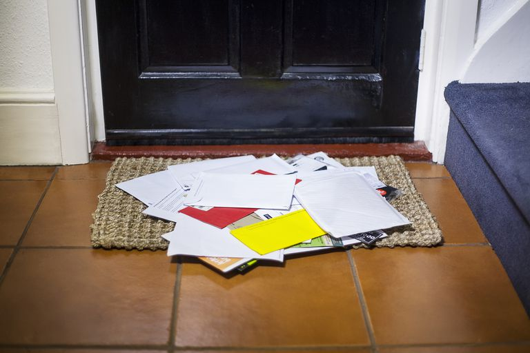 Mail on doorstop