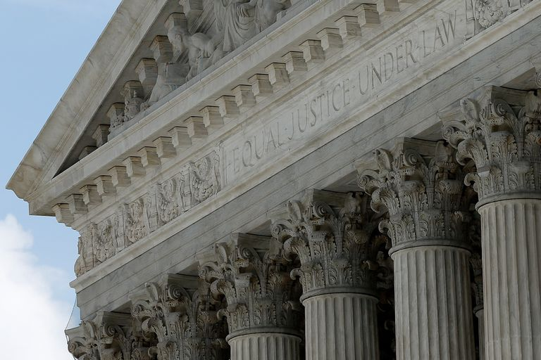 Entablature of the U.S. Supreme Court Building in Washington, DC