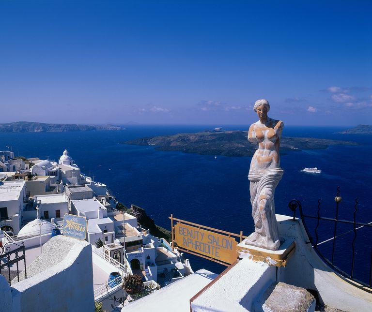 Statue of Aphrodite, Santorini, Greece