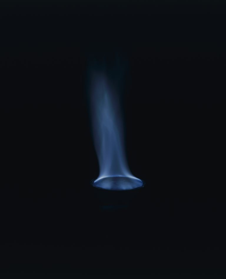 A blue flame test might not tell you which element is present, but at least you know which ones to exclude.