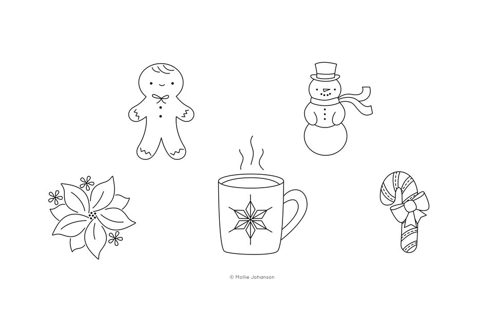 Holiday Mini Embroidery Patterns