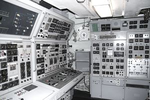 control room inside of a submarine