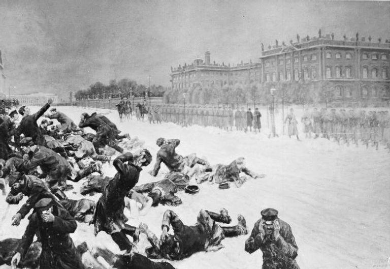 Bloody Sunday in St. Petersburg