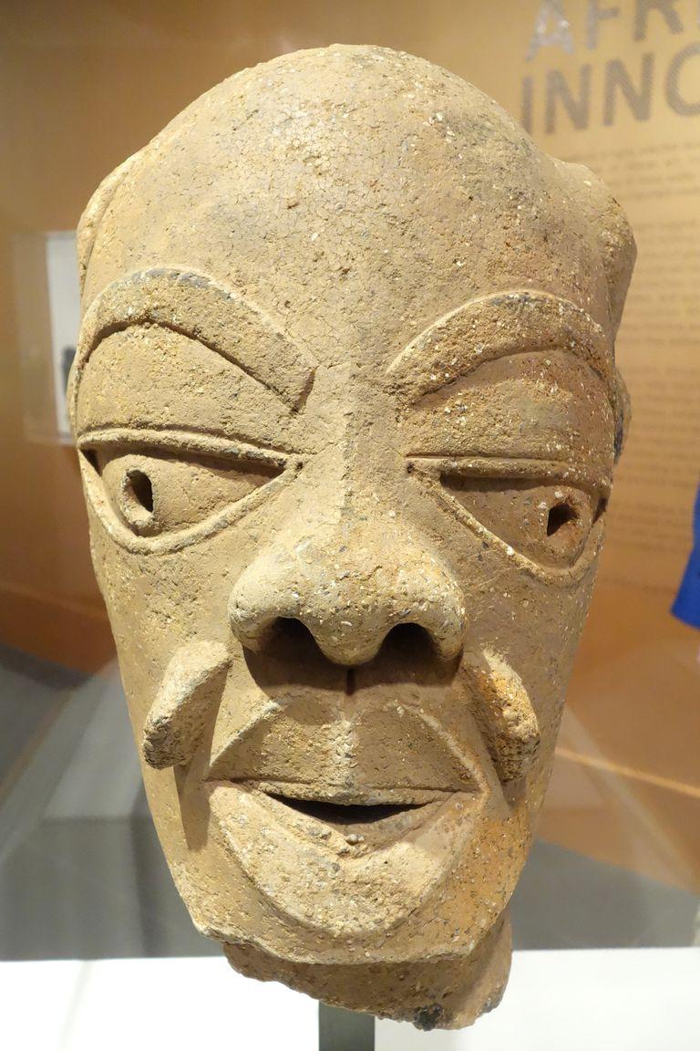 Terracotta Head of Man, Nok Culture 550-50 BC. Kaduna, Nigeria