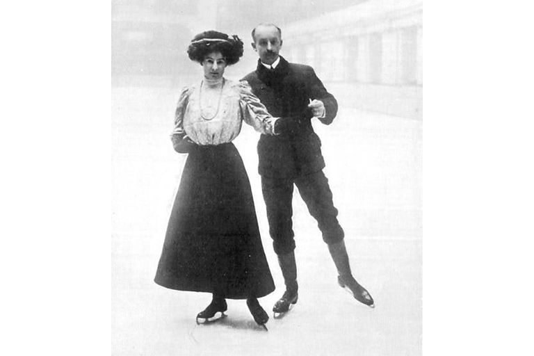 Madge and Edgar Syers at 1908 Olympics