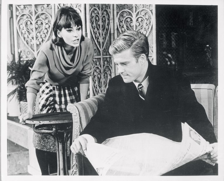 Portrait of Robert Redford and Elizabeth Ashley